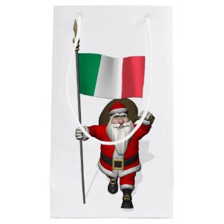 Jultomten med ensignen av italien