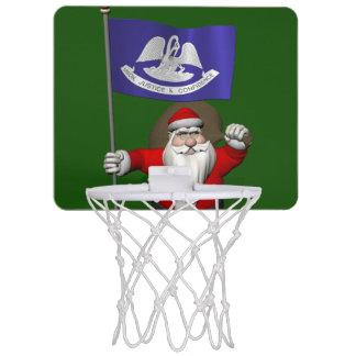 Jultomten med ensignen av Louisiana Mini-Basketkorg