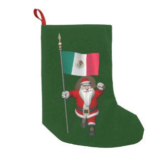 Jultomten med ensignen av Mexico Liten Julstrumpa