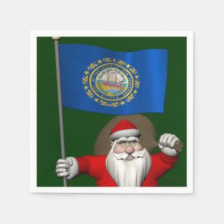 Jultomten med ensignen av New Hampshire Servetter