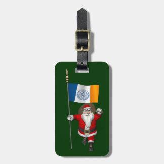 Jultomten med ensignen av New York City Bagagebricka