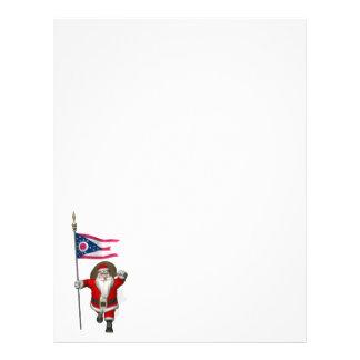 Jultomten med ensignen av Ohio Brevhuvud