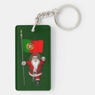 Jultomten med ensignen av Portugal