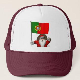 Jultomten med ensignen av Portugal Truckerkeps