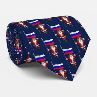 Jultomten med ensignen av Ryssland Slips
