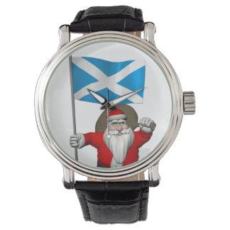 Jultomten med ensignen av Skottland Armbandsur