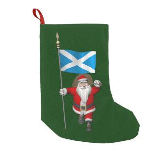 Jultomten med ensignen av Skottland Liten Julstrumpa