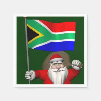 Jultomten med ensignen av Sydafrika Servetter