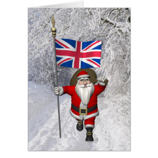 Jultomten med ensignen av UKEN Hälsningskort