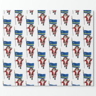 Jultomten med flagga av Curacao Presentpapper