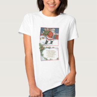 Jultomten med presenter t-shirts