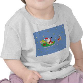 Jultomten på julnatt t-shirts