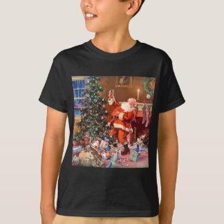 Jultomten på natten för jul tee shirts