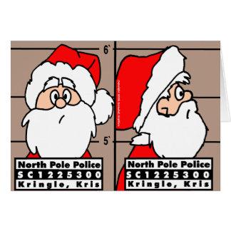 Jultomten rånar den sköt julkortet hälsningskort