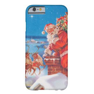 Jultomten upp på rooftopen med hans ren barely there iPhone 6 skal
