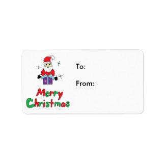 Jultomtengod jul adressetikett
