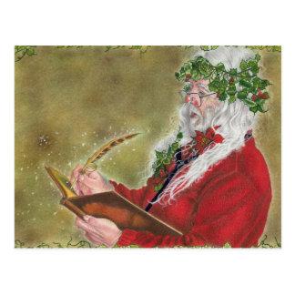 Jultomtenjulen listar vykort