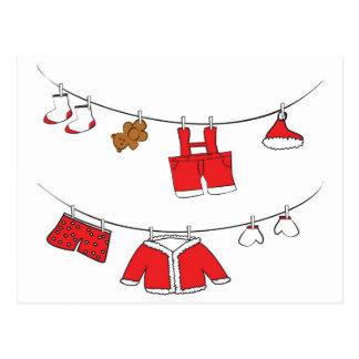 Jultomtenkläderkort Vykort