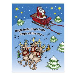 Jultomtennr. 11 (lodrät) vykort