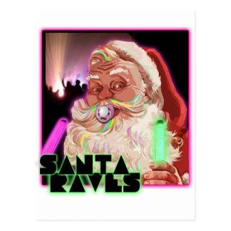 Jultomtenöversvallande beröm - rolig Santa Raver Vykort