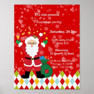 Jultomtenpartyet * välj bakgrundsfärg poster