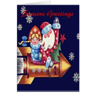 Jultomtenraketkort Hälsningskort
