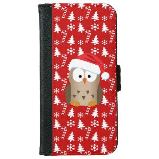 Juluggla med den Santa hatten Plånboksfodral För iPhone 6/6s