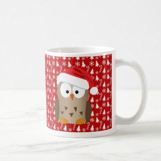 Juluggla med den Santa hatten Vit Mugg