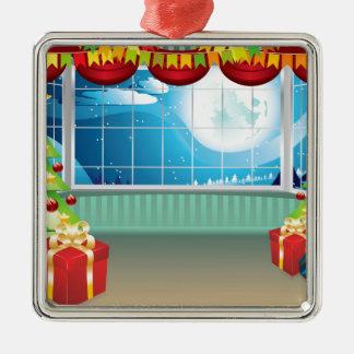 Julvardagsrum Silverfärgad Fyrkantigt Julgransprydnad