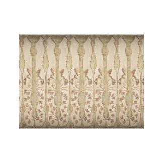 Jumbolöv av stil för höstWoodburn art nouveau Canvastryck
