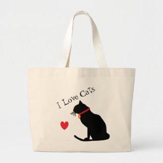 Jumbon älskar jag röd hjärta för katter och jumbo tygkasse