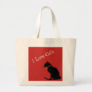 Jumbon älskar jag röda katter och grafisk toto för jumbo tygkasse