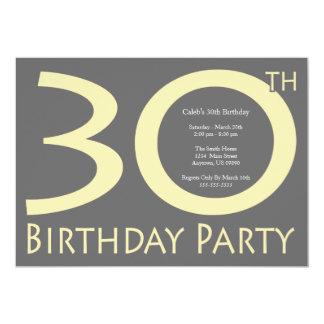 Jumbon numrerar födelsedagsfesten (citronen - 12,7 x 17,8 cm inbjudningskort