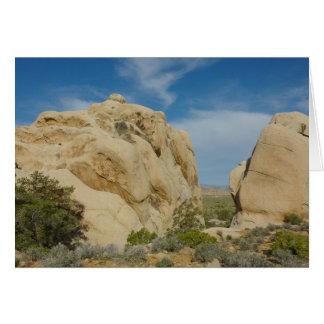 Jumbostenar på nationalparken för Joshua träd Hälsningskort