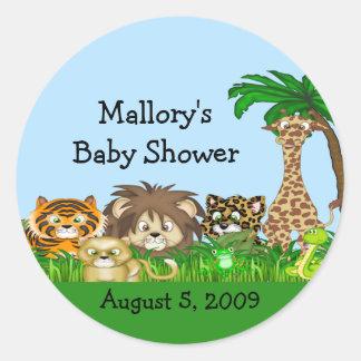 Jungel baby shower runt klistermärke