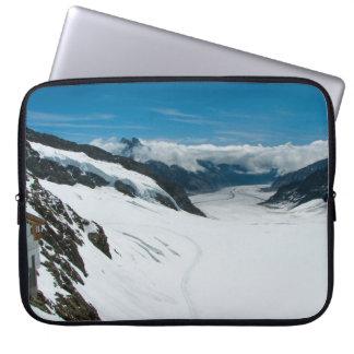 Jungfrau berg, schweizisk alperna laptop fodral
