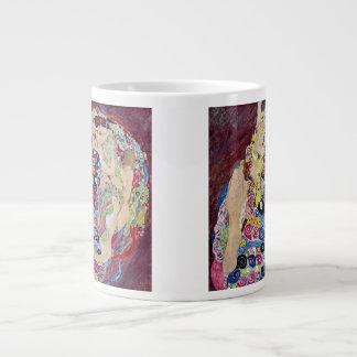 Jungfru (oskuld), Gustav Klimt, vintageart nouveau Jumbo Mugg