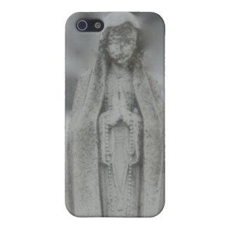 Jungfrulig Mary staty av marmor iPhone 5 Hud