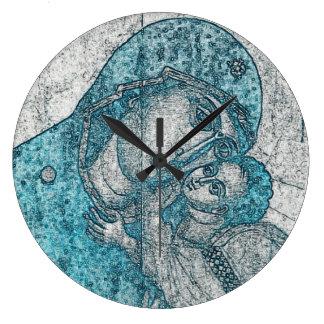 Jungfruliga blått för vintage för porträtt för stor klocka