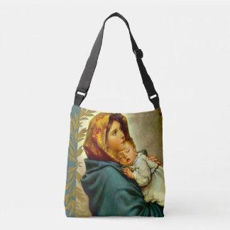 Jungfruliga Madonna Mary med babyen Jesus Axelväska