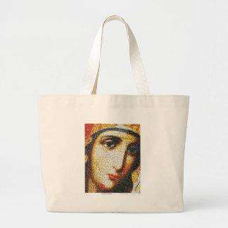 Jungfruliga Mary med Saints Jumbo Tygkasse