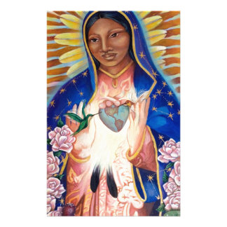 Jungfruliga Mary - vår dam av Guadalupe Brevpapper