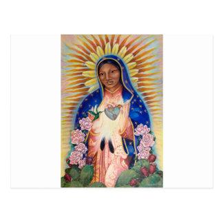 Jungfruliga Mary - vår dam av Guadalupe Vykort