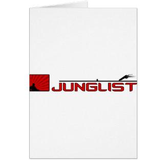 Junglist Turntable Hälsningskort