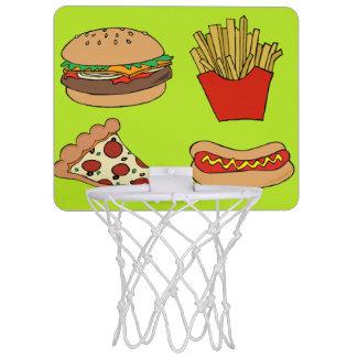 junkfoodbasketuppsättning Mini-Basketkorg