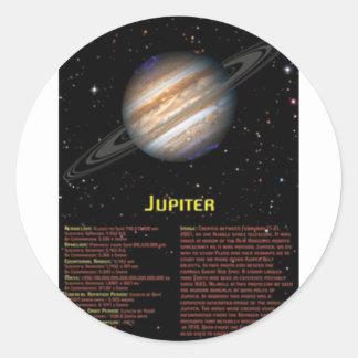 Jupiter affisch runt klistermärke