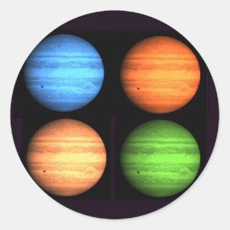 Jupiter Collage Runt Klistermärke