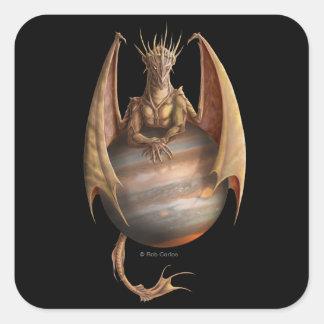 Jupiter drakeklistermärke fyrkantigt klistermärke