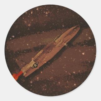 Jupiter Flyby Runt Klistermärke