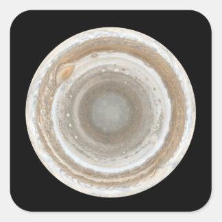 Jupiter Fyrkantigt Klistermärke